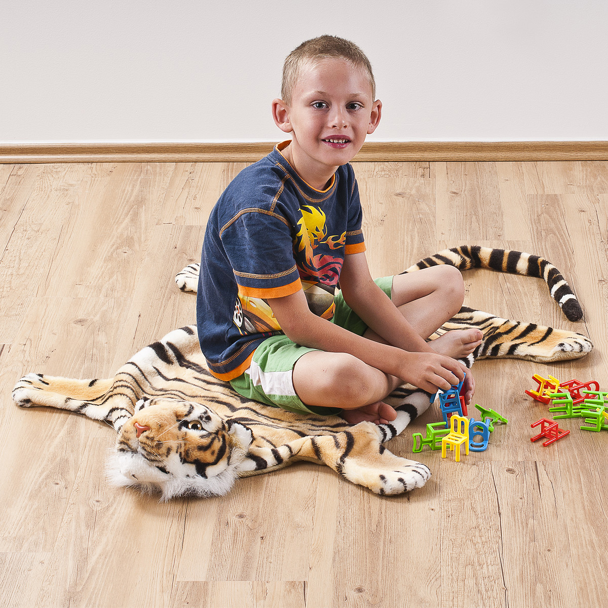 Detský koberec Tiger hnedý, 50 x 85 cm